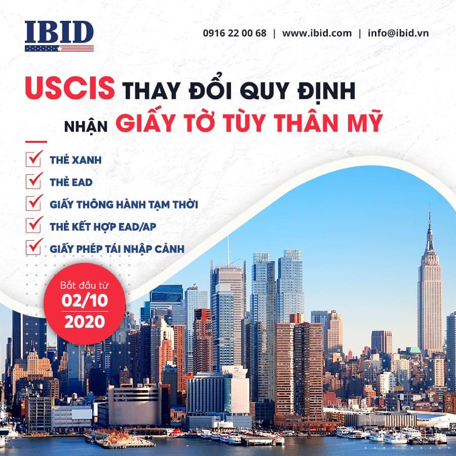 Quy định mới của USCIS về việc nhận các giấy tờ tùy thân Mỹ