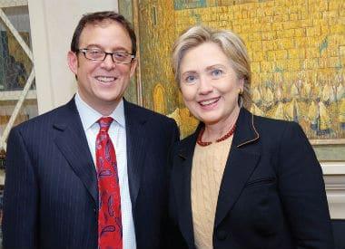 Ông David Lichtenstein và Bà Hillary Clinton Hình chụp tại nhà riêng của ông
