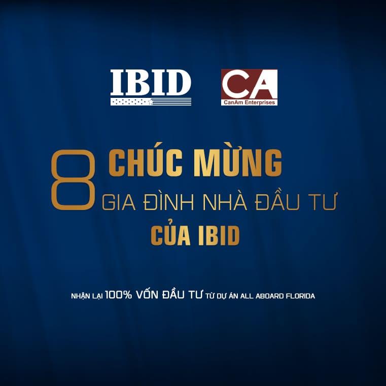 Chúc mừng NĐT EB-5 của IBID được hoàn vốn 100% từ dự án All Aboard Florida!