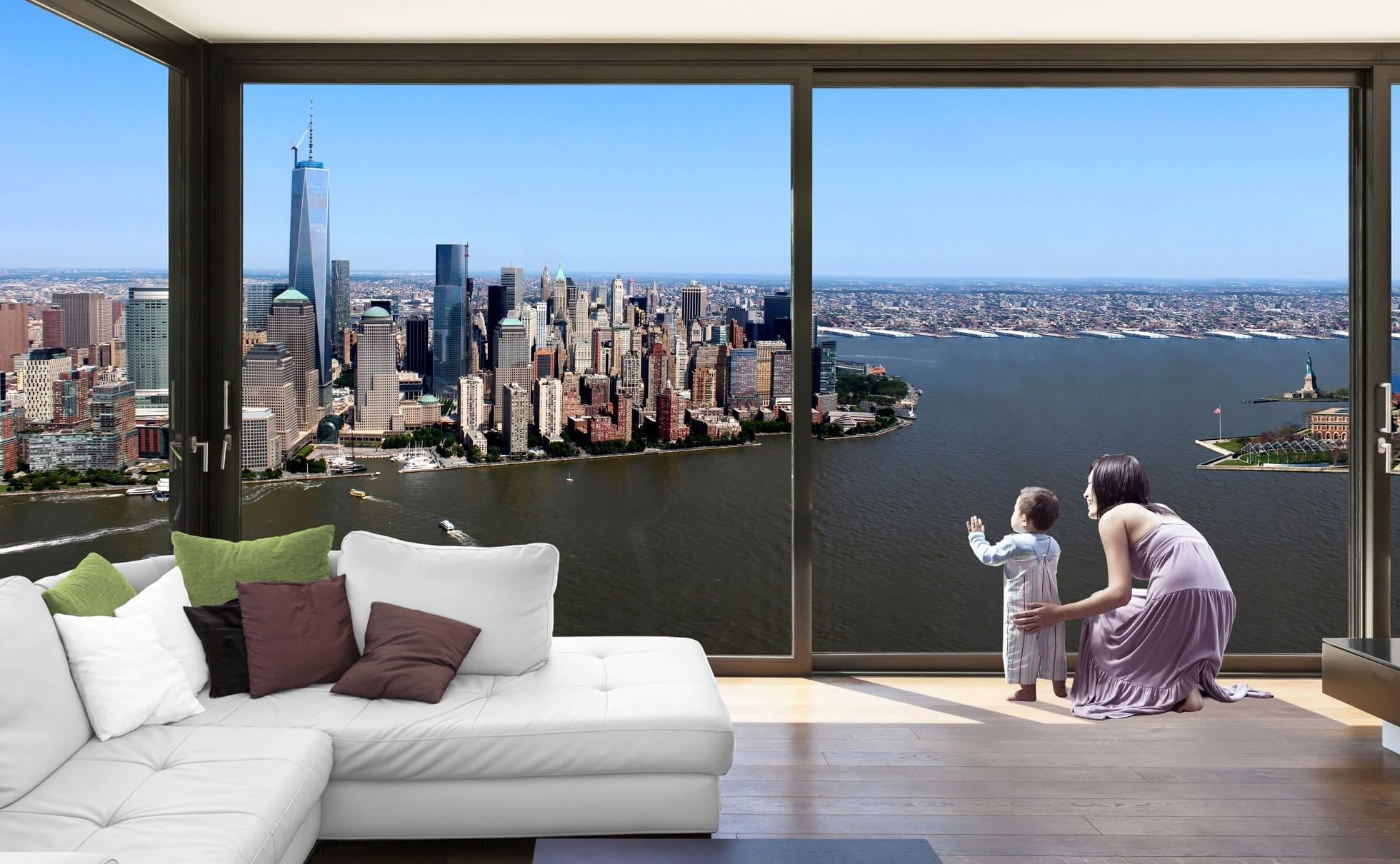 Toạ lạc dọc theo sông Hudson từ thành phố New York trong thành phố Jersey, NJ