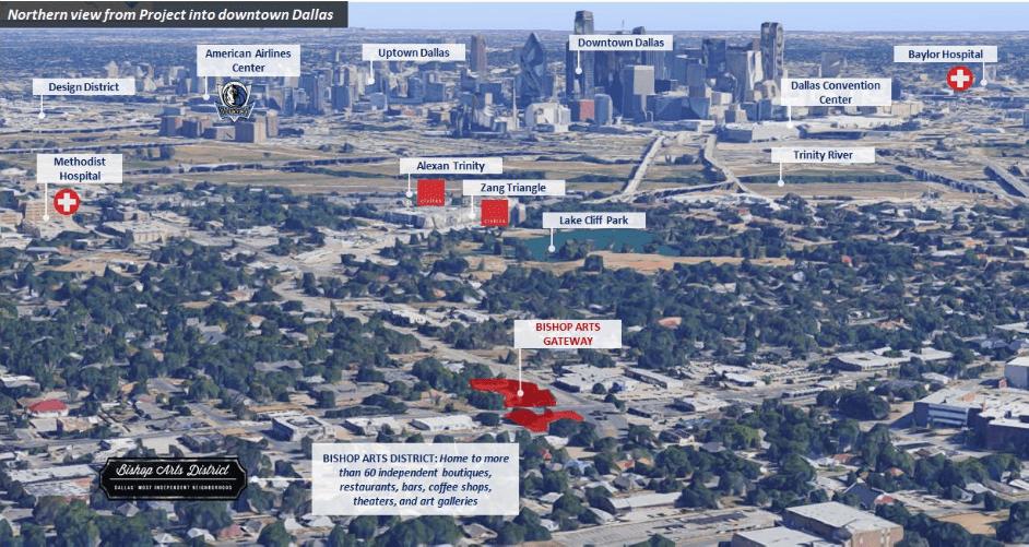 Bishop Arts Gateway nằm ngay khu đô thị nổi tiếng nhất Dallas